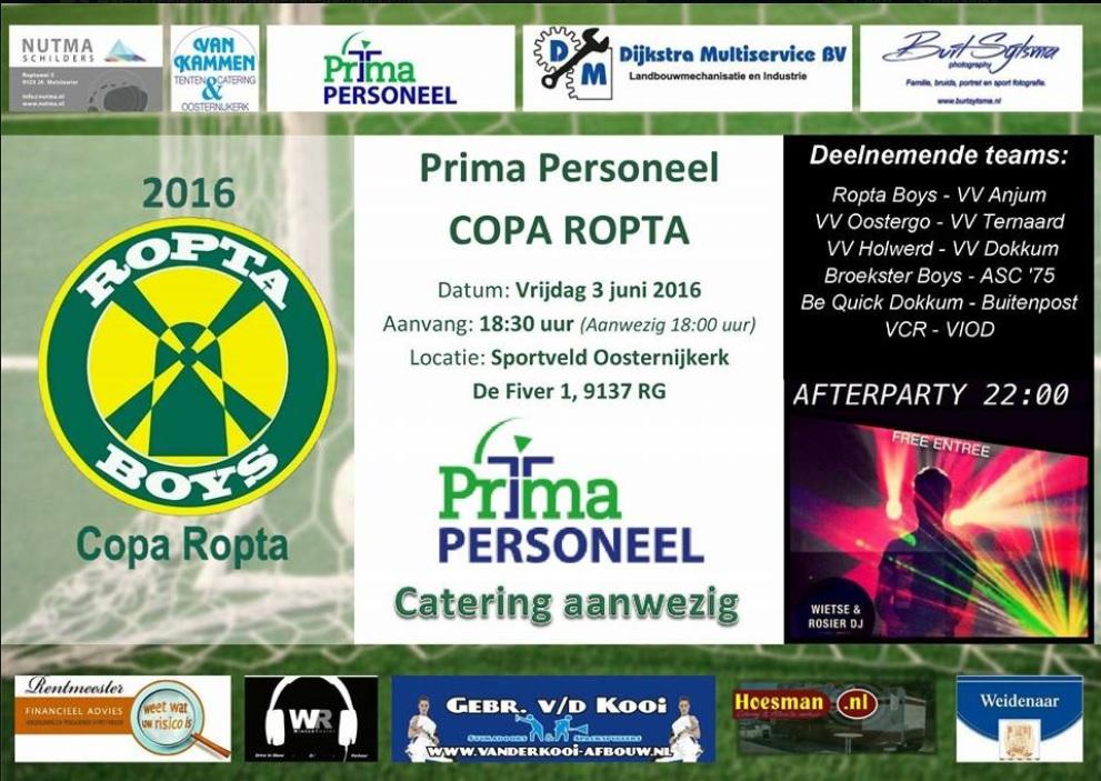 Prima Personeel Copa Ropta